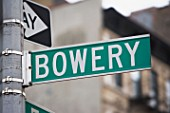 Bowery street sign