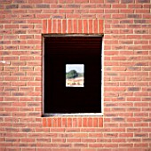 Brick wall with window