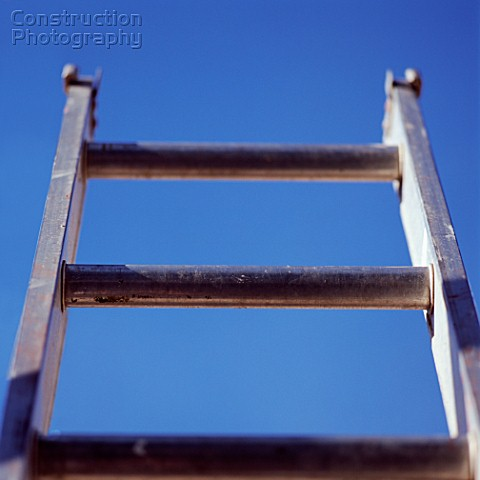 Ladder and clear sky