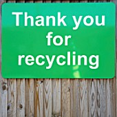 Thank you for recycling sign