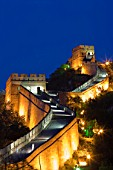 Night Scene of Great Wall in Badaling