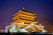 Night Scene of Bell Tower and Drum Tower,Xian