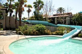 Waterslide, Hotel, Palm Springs, California, USA