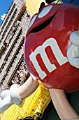 Detail of M & M character on fascia of M & M Shop in Las Vegas, Nevada, USA