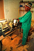 Man working on Lathe, Africa