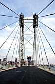 The Nelson Mandela Bridge under construction, Newton, Johannesburg, South Africa, 2003