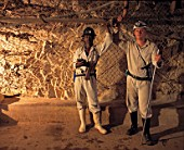 Two men on the ventillation recording team South Africa, Western Areas Gold mine, 1995