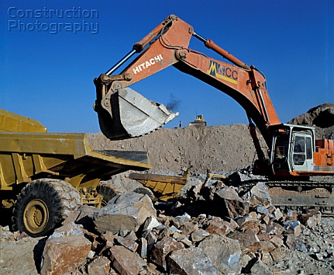 Opencast mining industry frontend loader South Africa west rand 1994