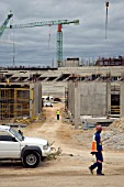 Construction of the Nelson Mandela Bay Stadium in Port Elizabeth is underway. The stadium in the Eastern Cape will host seven matches, including one of the semi-finals. It is a new stadium, being built especially for the 2010 FIFA World Cup, South Africa