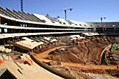 The construction site of Soccer City which will host the 2010 World Cup final. Johannesburg, South Africa, 2008