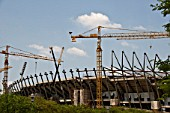 Construction of the new grandstands and refurbishment of The Royal Bafokeng Sports Palace in Phokeng near Rustenburg.  The stadium will be used for 2010 FIFA World Cup Soccer.