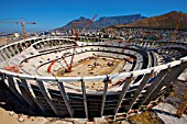 The installation of the Compression Ring is complete and the curve and shape of the Stadium can be seen, Greenpoint Stadium, Cape Town, South Africa