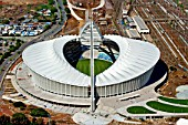 Aerial view of the completed Moses Mabida Stadium in Durban, a venue for various of the FIFA 2010 Soccer World Cup matches