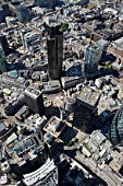 Aerial view of City of London, Tower 42, London