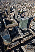 Aerial view of Citypoint & Barbican Centre, London