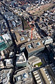 Aerial View of London Construction Site - 201 Bishopsgate and the Broadgate Tower in 2006