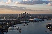 River Thames, Greenwich, London, UK, aerial view