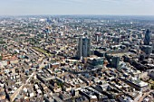 Aerial view of City of London, 201 Bishopsgate construction