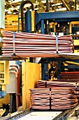 Copper Cathodes Packs Plant in Chuquicamata Chile largest Open Cast Copper Mine