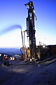 Drilling for Exploration in the middle of the Cordillera de la Costa at Sunrise