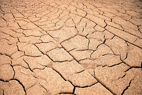 Dry Cracked Earth In Alicahue Chile