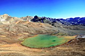 Green Lagune in Middle of The Andes