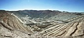Panorama from Escondida open cast mine