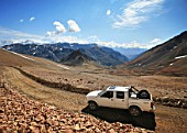 Pick Up In The Middle Of The Cordillera De Los Andes. At an Elevation Of Over 4000m in the Andes, A Exploration Mission For Rio Tinto In Chile.