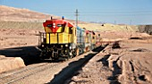 Train Transporting Copper Cathodes From Escondida Open Cast Copper Mine To Antofagasta Port