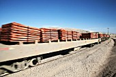 Train with Copper Cathodes in Escondida, Chile