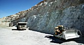 Dumper Trucks and Shovel in Copper Mine, Escondida-Chile