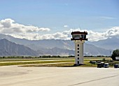 Control tower, Lhasa airport, Tibet, China