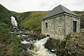 A small scale community hydro electric power station at kylesku, Scotland, UK