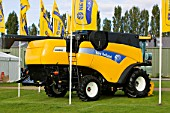 New Holland farming machines powered by bio diesel sign at the bio diesel Expo UK