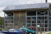 A combined heat and power plant at Bedzed the UKs largest eco village Beddington London UK