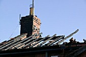 An arson attack on a house in Carlisle Cumbria UK