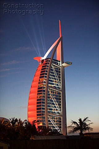 The iconic Burj al Arab hotel in Dubai UAE