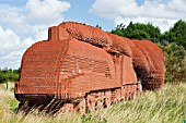 The Train, a sculpture made entirely of bricks, 181, 754 to be precise, by the artist, David Mach on the outskirts of Darlington, North East, UK