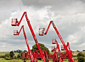 Remote access cherry picker crane platforms for hire in Tebay, Cumbria, UK.