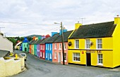 Colourful houses in the village of Eeries in the Irish Republic