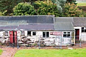 A derelict village hall near Douglas, Lanarkshire, Scotland, UK