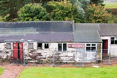 A derelict village hall near Douglas Lanarkshire Scotland UK