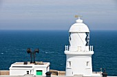 Pendeen lighthouse near St Just, Cornwall, UK.