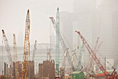 A construction site in Hong Kong, China.