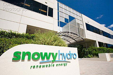 Snowy Hydro buildings in Cooma Australia