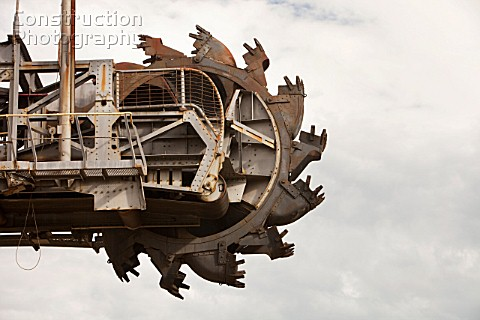 A coal excavation machine in the Latrobe Valley Victoria Australia