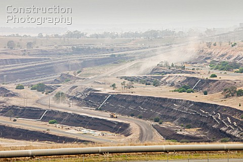An open cast coal mine in the Latrobe Valley which has massive coal reserves close to the surface Th
