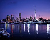 New Zealand, Auckland, skyline & harbour.