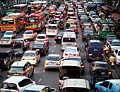 Thailand, Bangkok, rush hour traffic jam, urban congestion