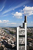 Germany, Hessen, Frankfurt am Main, general aerial view, Commerzbank Tower